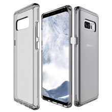 Case For Samsung Galaxy Note 8 Transparent Clear Silicone Case Soft TPU Edge + Hard PC Armor Hybrid Back Cover For Galaxy Note 8 цена