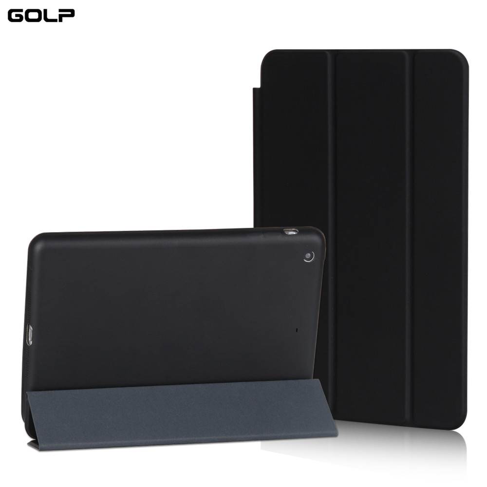for ipad air case, GOLP Micorfiber Smart cover for iPad air 1, Stand case For ipad 5, Funda Flip Cases for IPad air flip left and right stand pu leather case cover for blu vivo air