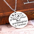Модные Сердце Письмо Круглый Ожерелье Ювелирные Изделия Семья Любовь Бабушка Подарок