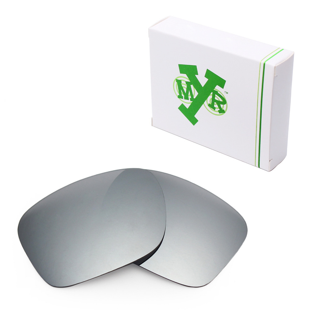 2540d36ad0 Mryok Anti-Scratch POLARIZED Replacement Lenses for Oakley Holbrook  Sunglasses Silver Titanium