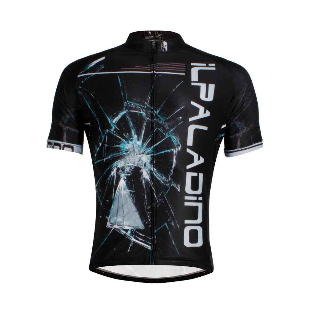 CYCLING JERSEYS Men hot Breathable Black top Sleeve Bicycle Jersey BIKE ILPALADIN 2016 new men s cycling jerseys top sleeve blue and white waves bicycle shirt white bike top breathable cycling top ilpaladin