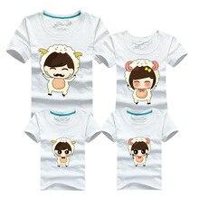 Family Look 2016 Funny T Shirt Cartoon Men Brand Clothing Skate Harajuku T-shirt Korean Sheep Polera Hombre Tshirt Anime Clothe