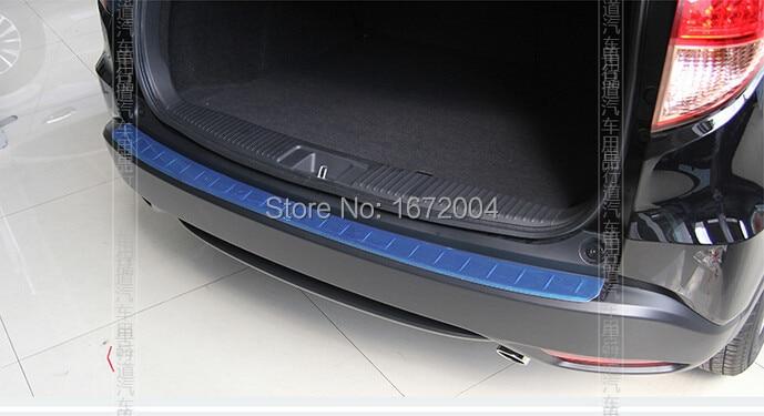 Высокое качество нержавеющая сталь Задний бампер протектор Накладка для Honda vezel