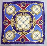 Women Pashmina Winter 90 X 90cm 100 100 Pure Real Twill Satin Silk Newest Brand Design