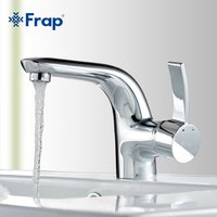 Frap Mixer White Faucets Home Bathroom Faucet Basin Mixer Tap Cold Hot Water Taps Brass Chrome Plating Robinet Torneiras F1076