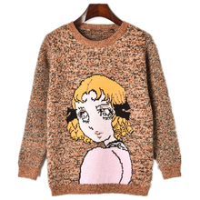 2019 Winter Runway Loose Pullovers Cute harajuku Sweaters Thick Jacquard Wool Pullover Women Twist knit top Jumper Ladys Sweater