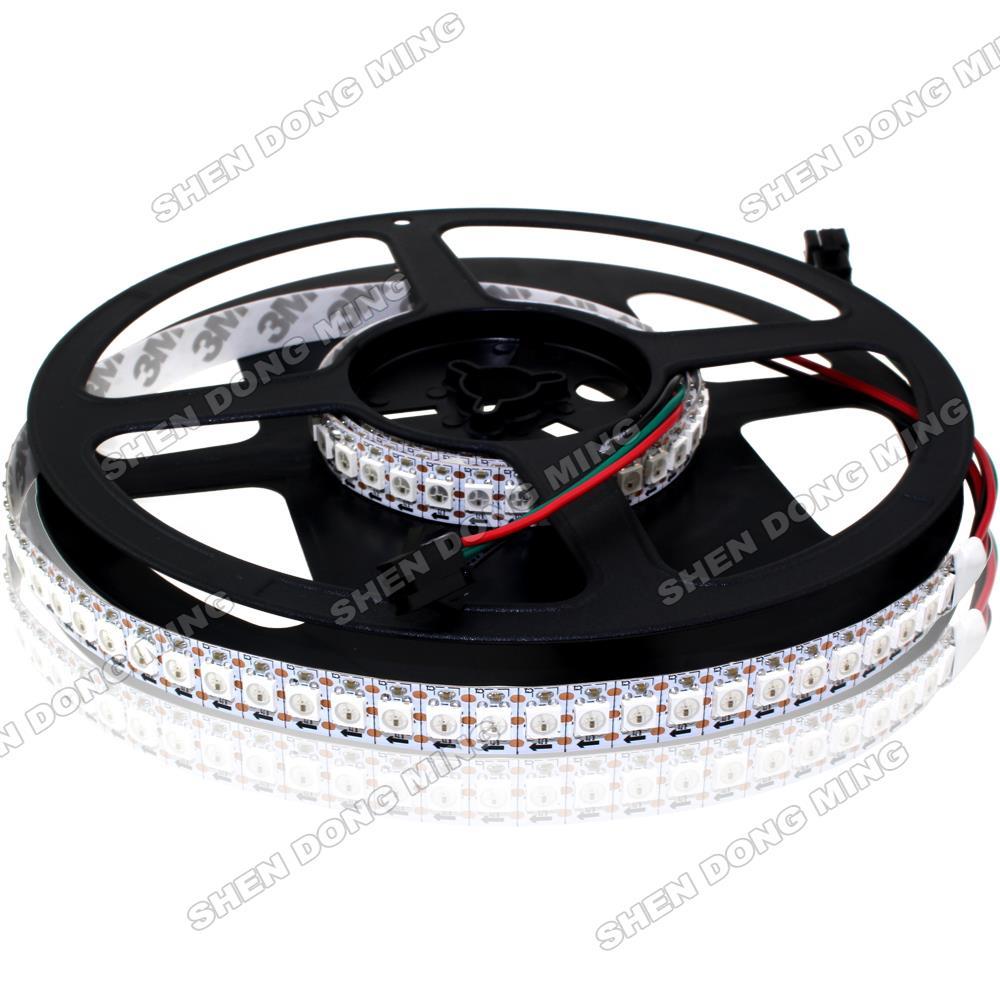 1 m/lot livraison gratuite lumière bande de pixel LED rgb WS2812 IC 5 V 5050 SMD 144led lumière Flexible pas étanche décoration de la maison