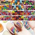 BlueZoo Mixtos 6 Diseños Coloridos Peces Mariposa de Uñas Marca de agua Pegatinas Animal Decal Transferencia Art Nail Foil Belleza Accesorios