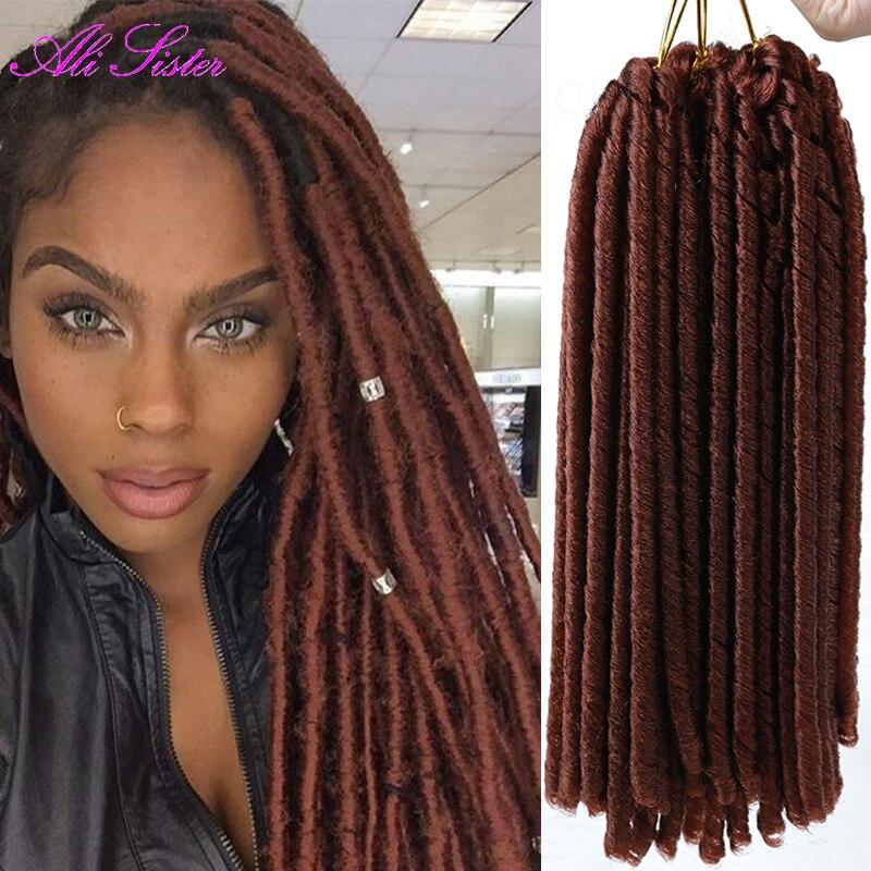 Brown crochet hair extensions braiding hair faux locs