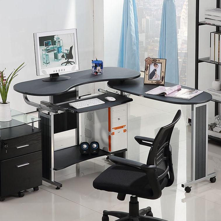 SUNTEAM Double desktop computer desk corner desk modern ...