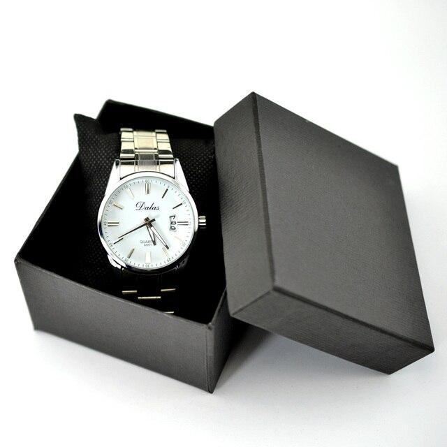 Square Watch Box Wristwatch Storage Case with Sponge Cushion