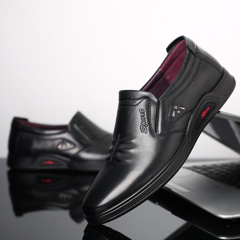 Noir 2019 Pointu En Sur Plus marron Cuir Bout Bureau Vache Slip Mocassins Chaussures Zéro Hommes De Des Casual Affaires Formelle wUqxOw1B6