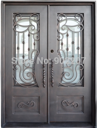 Wrought Iron And Glass Entry Doors Iron Front Door Prices