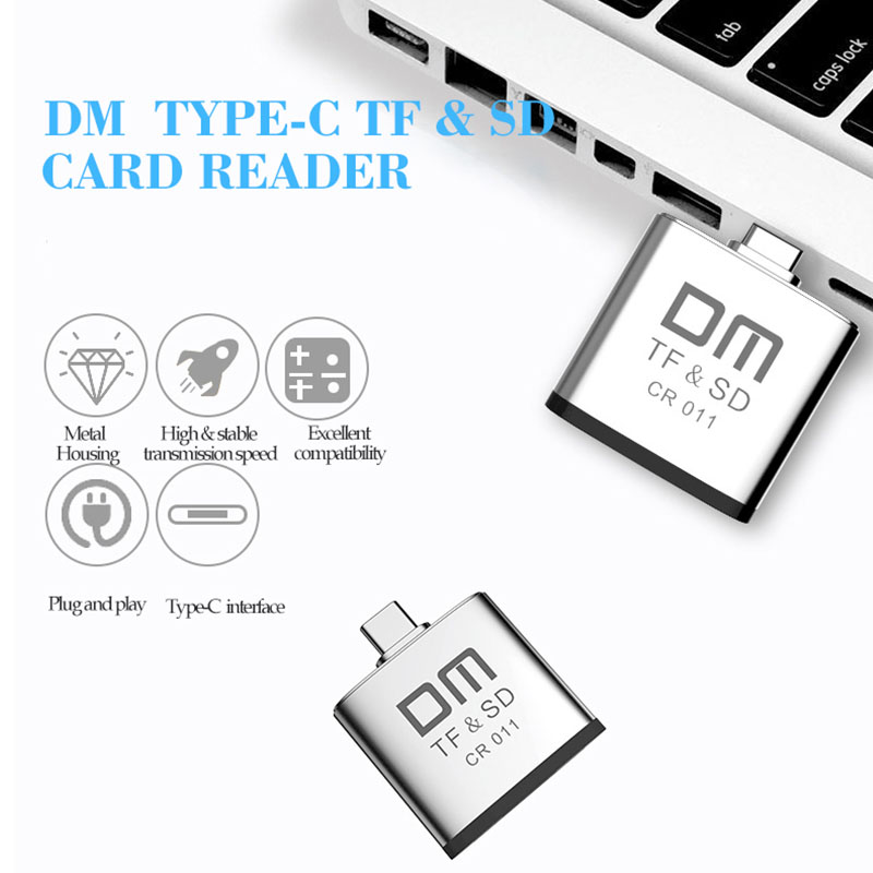 Image 2 - Type C card reader for Micro SD and SD card 2 in 1 USB C card reader CR011-in Card Readers from Computer & Office