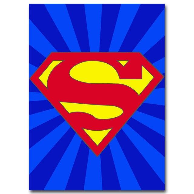 266 48 De Réductionbatman Superman Captain America Art Minimaliste Toile Affiche Peinture Dessin Animé Super Héros Logo Mur Photo Enfants Chambre