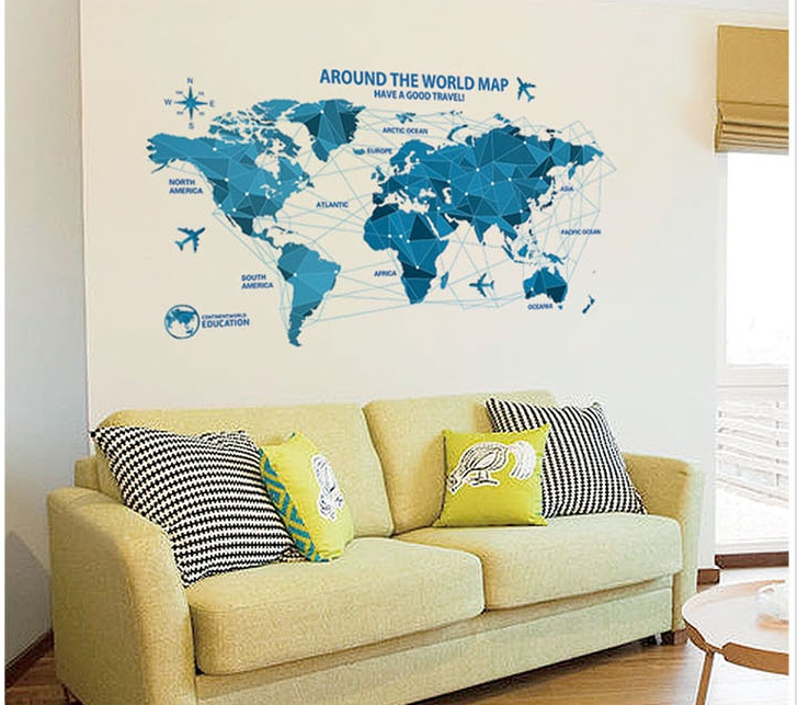 Movable map of the world movable map of usa cell phone users in free shipping diy world map movable wall art stickers vinyl decals on movable map of usa gumiabroncs Images