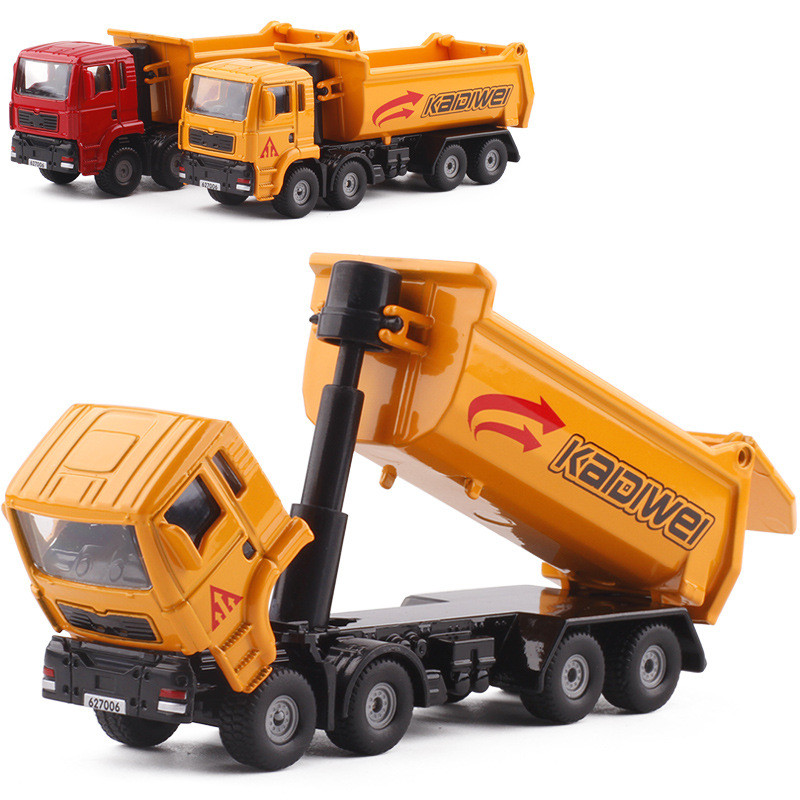 50% Discount Cars,high Simulation Engineering Vehicle Model,1: 72 Alloy Dump Truck,metal Castings,toy Vehicles,free Shipping