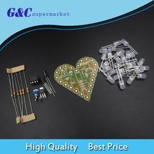 DIY Kit Heart Shape Breathing Lamp Kit DC4V-6V Breathing LED Suite DIY Electronic