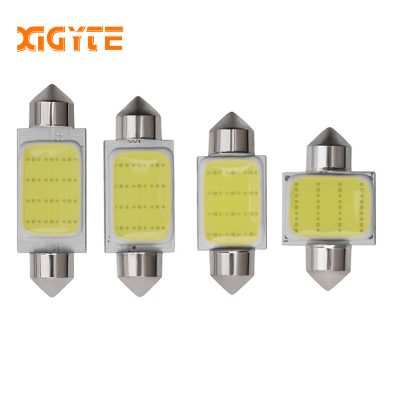 1PCS C3W C5W C10W festoon LED Car COB reading Door Light Trunk Lamp License Plate Bulb 31MM 36MM 39MM 41MM white 12V Car Styling festoon 42mm 6w 540lm 12 smd 5630 led white light car reading lamp license plate light 12v page 5