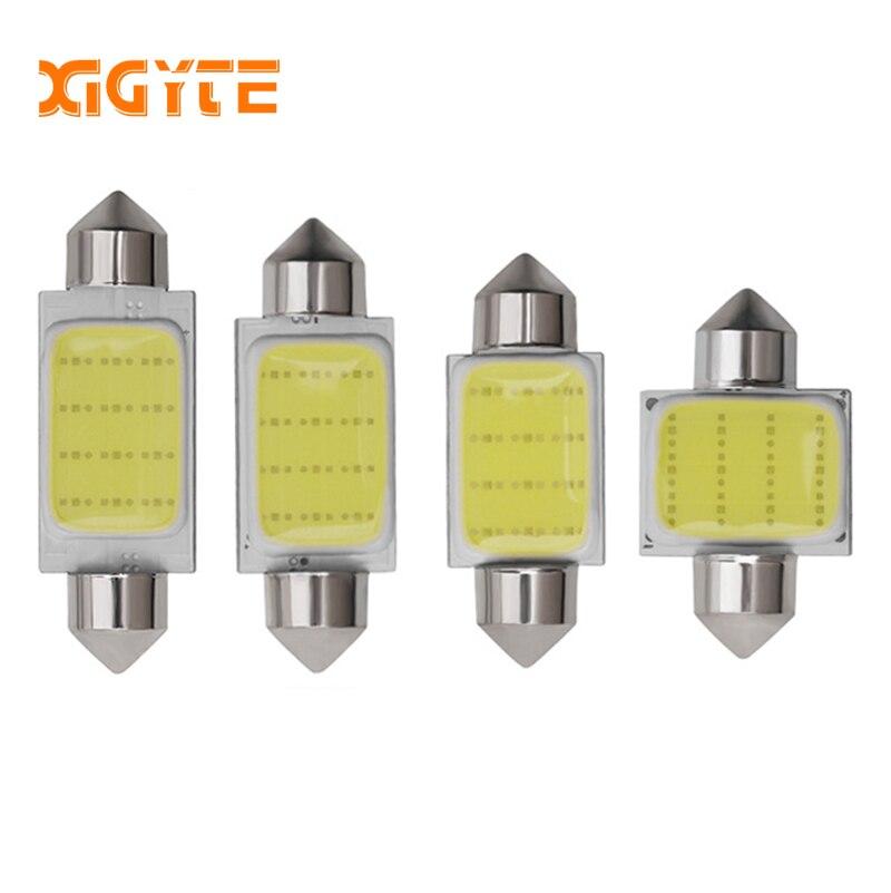 1PCS C3W C5W C10W Festoon LED Car COB Reading Door Light Trunk Lamp License Plate Bulb 31MM 36MM 39MM 41MM White 12V Car Styling