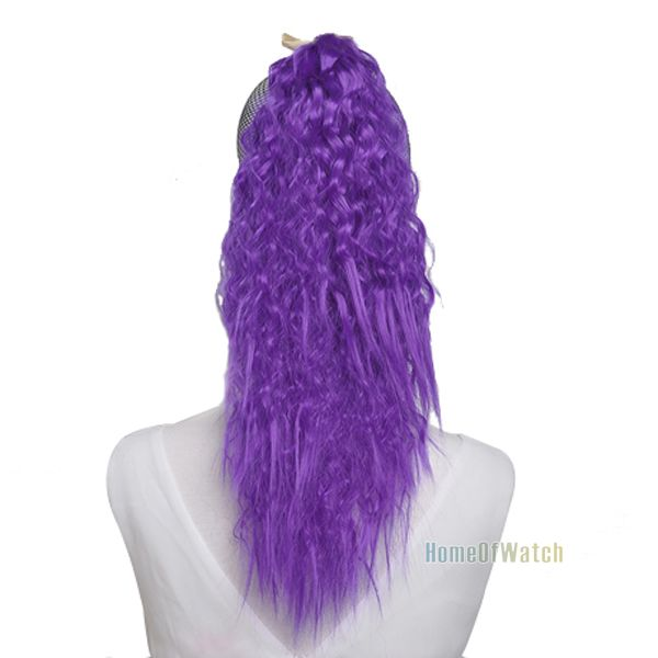 Fashion Dark Purple Curly Ponytail Hair Extensions Nwg0he60925 Dv2