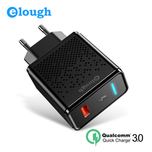 Elough Quick Charge 3.0 Mobile Phone Charger EU Plug Wall USB Charger Adapter Fast charge