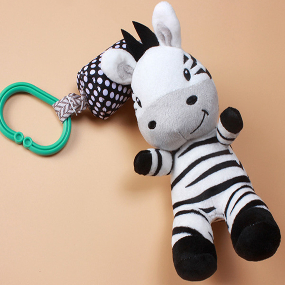 Baby Toys Cartoon Zebra Infant Mobile Cloth Toy Baby Trolley Bed  Wind Chimes Rattles Bell Bebe Crib Bed Hanging Bell Pacify Toy