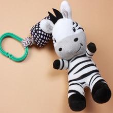 Baby Speelgoed Cartoon Zebra Zuigeling Mobiele Doek Speelgoed Baby Trolley Bed Windgong Rammelaars Bell Bebe Wieg Bed Opknoping Bell pacificeren Speelgoed