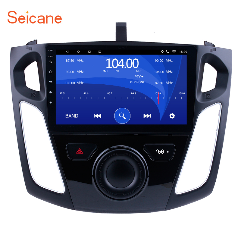 Seicane 9 inch Android 8.1 Car Multimedia Player For 2011 2012 2013 2014 2015 Ford Focus HD 1024*600 Touchscreen GPS Navigation