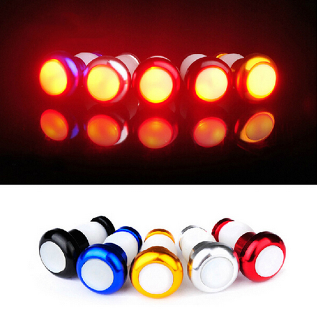 Indicator Safety Warning Lamp Cycling 1Pair Bike Light Turn Signal LED Handlebar Safety Caution Light Bicycle Accessories
