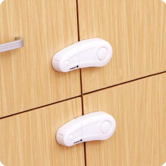 Creative Hanging Kitchen Cabinet Lock Pull locks 2Pcs/Lot Baby Safety  Drawer Lock