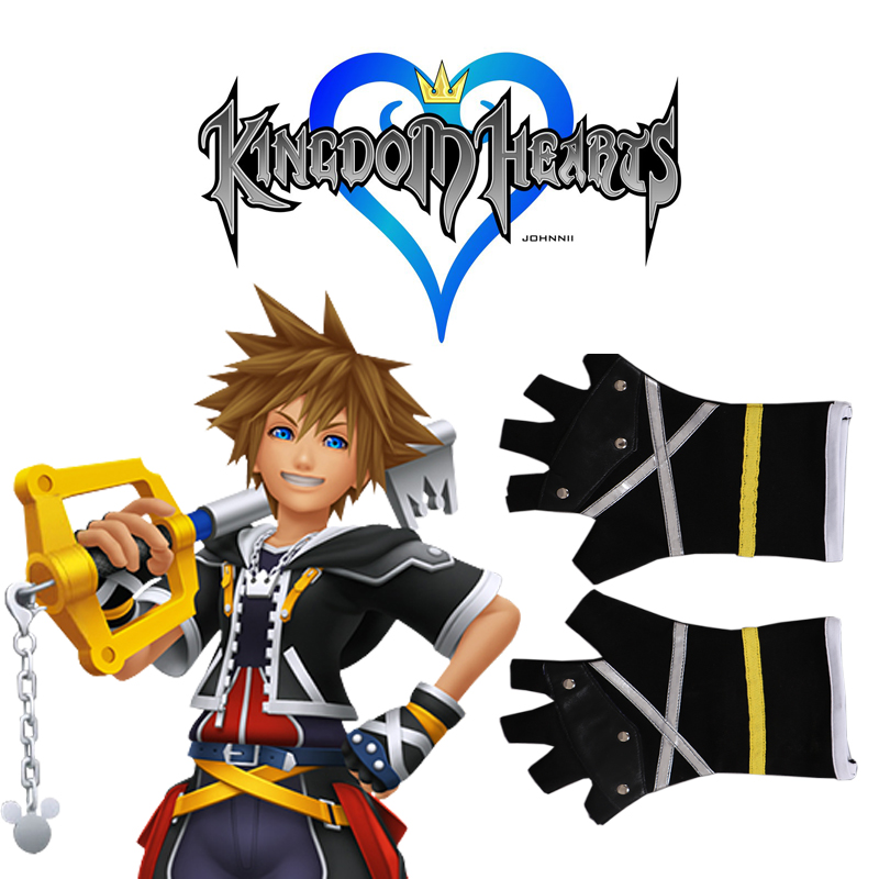 Free Shipping Kingdom Hearts Sora PU Gloves Game Cosplay Accessories In Costume From Novelty Special Use On Aliexpress