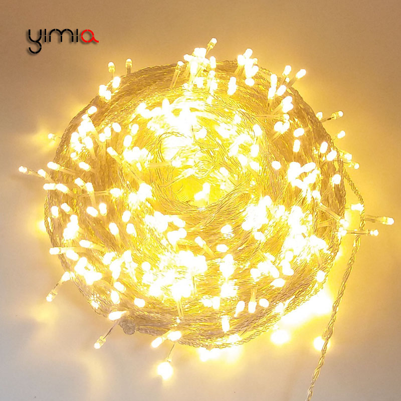 White/Warm white 30m 50m 100m LED String Fairy Lights Outdoor Christmas Holiday lights Garlands Wedding Party Garden Decorations string lights 800leds 100m outdoor fairy led strip light for christmas garden home holiday decorations with controller