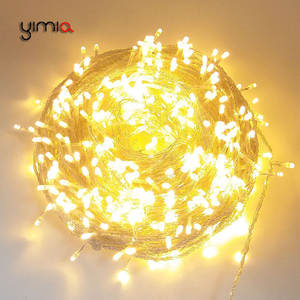 Outdoor Christmas Fairy-Lights Led-String Garden-Decorations Wedding 100m Garlands Party