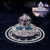 Car Ornament Crystal Diamond Crown Shape Air Freshener Dashboard Decoration Car Perfume Diffuser Auto Interior Accessories