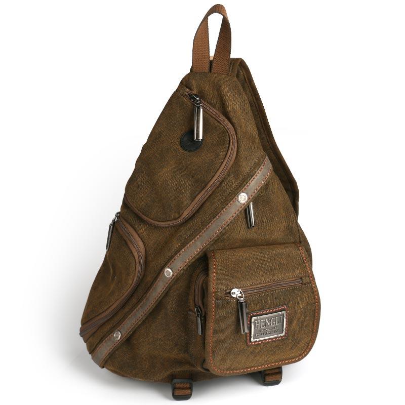 Ruil 2018 retro tuval erkekler için çok yönlü rahat omuz messenger çanta fermuar ücretsiz kargo