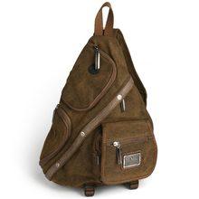 лучшая цена 2016 retro backpack canvas versatile casual shoulder messenger bags for men zipper free shipping