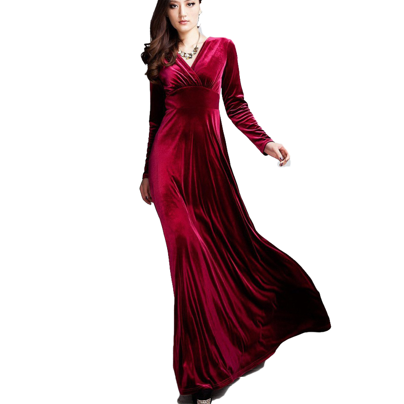 Online Get Cheap Long Red Velvet Dress -Aliexpress.com - Alibaba Group