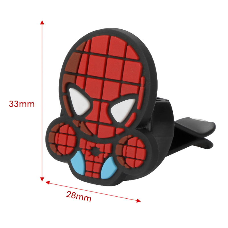 Image 3 - 2Pcs/Set Cartoon Air Freshener Styling perfumes The Avengers Marvel Style Star Wars Iron Man Auto Air Condition Vent Outlet Clip-in Air Freshener from Automobiles & Motorcycles