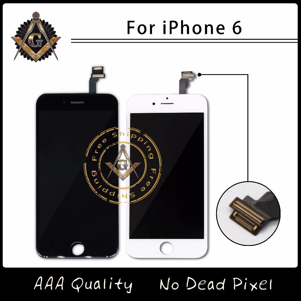Prix pour 10 PCS/LOT Pas de Dead Pixel LCD Pour Apple iPhone 6 Écran lcd Avec Écran Tactile Digitizer Assemblée Expédition Libre de DHL DHL