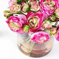 אינדיגו-50 חבילות סיטונאית הכלה פרח רוז חבורה משי תה רוז זר פרחים לחתונה פרח משלוח חינם מסיבת אירוע