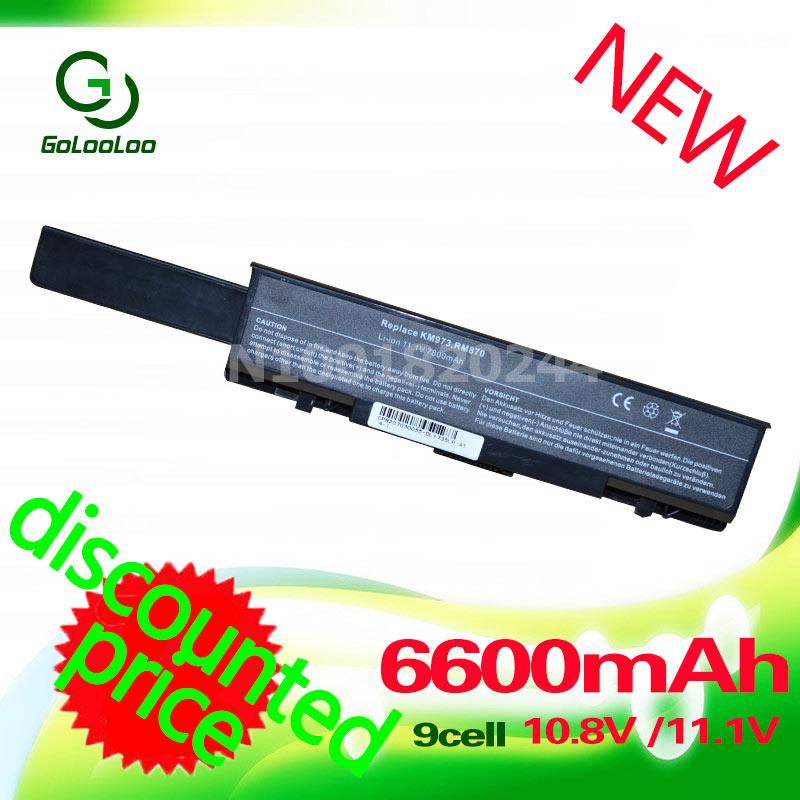 Golooloo 6600MaH 11.1V Laptop Battery for Dell Insprion 1737 Studio 1735 1737 312 0708 312 0711 312 0712 KM973 KM974 KM978 MT335