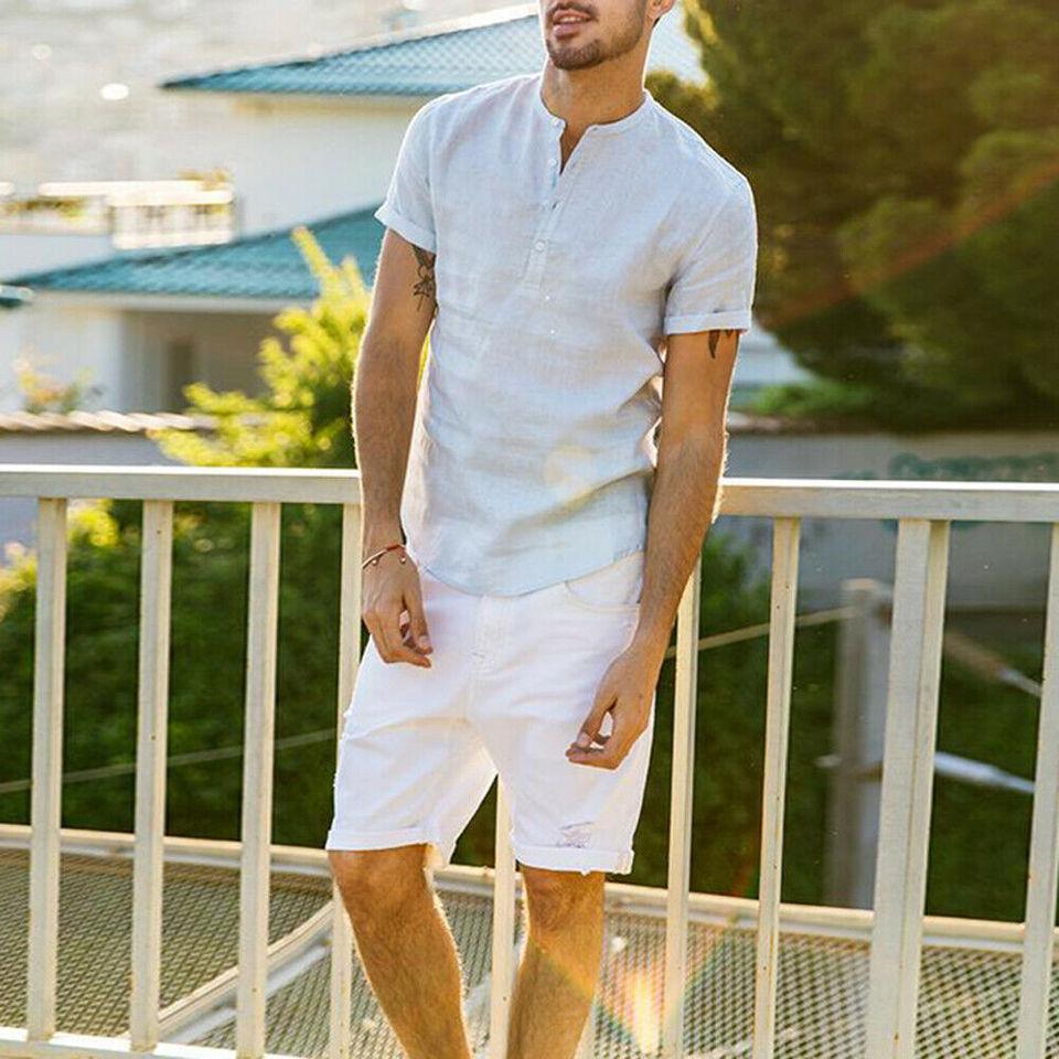 UK męska pościel z krótkim rękawem lato trwałe koszule