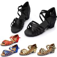 Children's   Dance     Shoes   Latin   Dance     Shoes   Tango Salsa   Dance     Shoes   Salon For Women Girls High Quality   Shoes   Wholesale C02D
