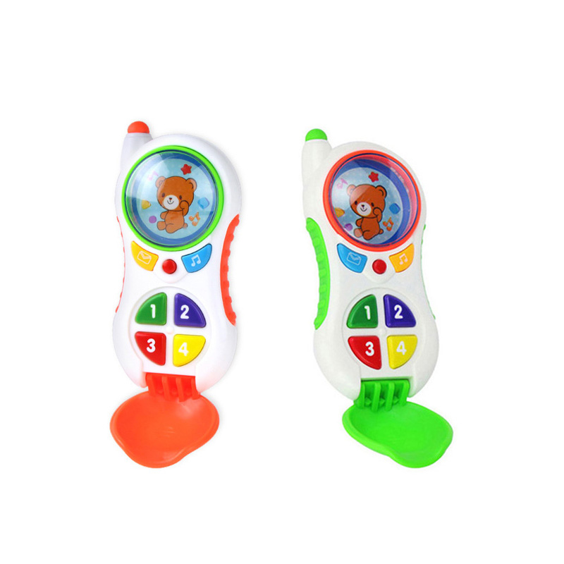 Baby Toys 13-24 Months Led Lights Cell Phone With Music Sound Kids Phone Study Learning Educational Toy Birthday Christmas Gift