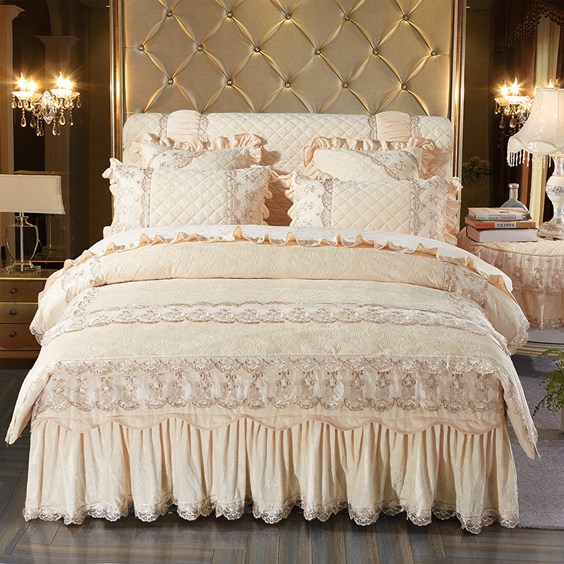 thick fleece winter warm luxury bedding set queen king size beige bed set duvet cover set. Black Bedroom Furniture Sets. Home Design Ideas