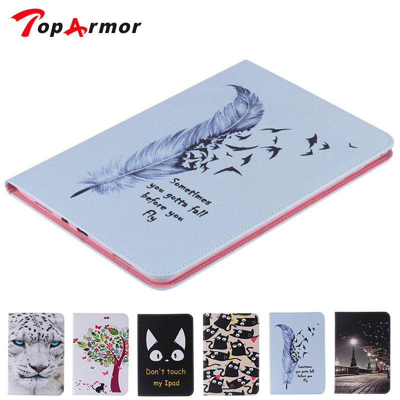 TopArmor For Samsung Galaxy Tab A 9.7T550 T555 T551 1010.1 inch Print Tablet PU Leather Cover Case For Android PC PAD битоков арт блок z 551