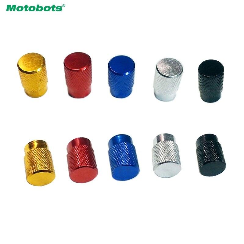 MOTOBOTS 1000PCS Aluminum Alloy Car Wheel Tire Valve Stem Caps Dust Covers 5-Color Gold,blue,red,silver,black #CA5483
