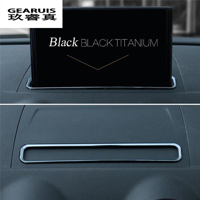 For AUDI A3 8V 2013 2017 Car Chrome Trim Styling Navigation Decorative Frame Strip Cover Sequins