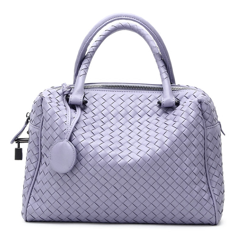 new fashion leather handbags Louis knitting Boston shoulder diagonal cross femal